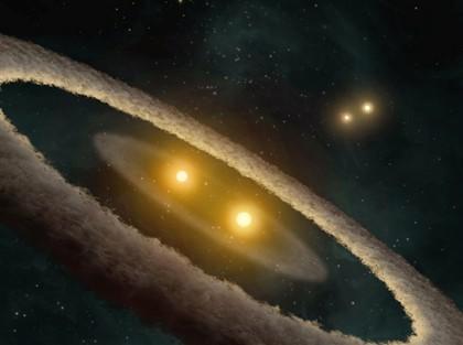 Descoberta inédita de planeta iluminado por 4 sóis