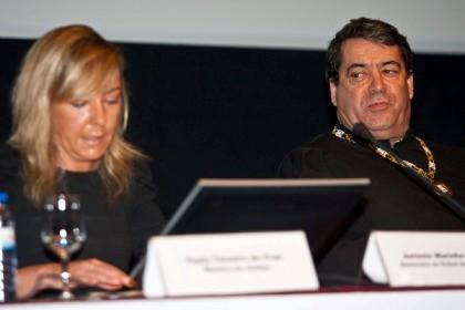 marinho Pinto com a ministra da Justiça, Paula Teixeira da Cruz