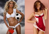 Sarah Brandner e Irina Shayk antecipam o duelo entre Schweinsteiger e Cristiano Ronaldo