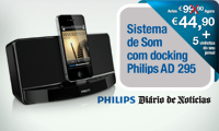 Sistema de Som com docking Philips AD 295