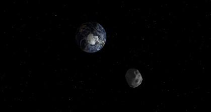 O asteroide tem cerca de 45 metros de diâmetro