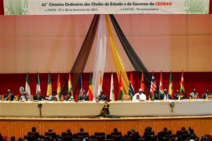 Aspeto geral da cimeira da CEDEAO consagrada às crises na Guiné-Bissau e Mali