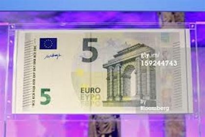 Nova nota de cinco euros começa a circular 5.ª feira