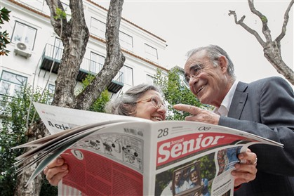 Alice Viera e Mário Zambujal na apresentação do jornal
