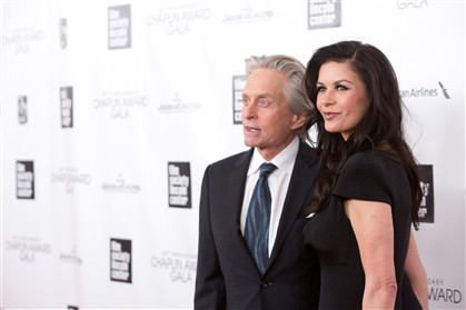 Catherine Zeta-Jones com Michael Douglas