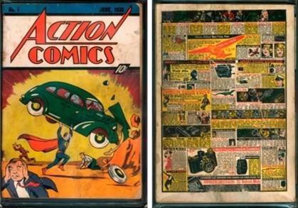 A capa e contra-capa da revista apresentadas no site de leilões Comicconect