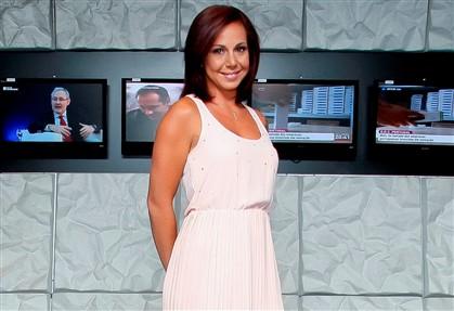 Sara Norte nos estúdios da RTP momentos antes da entrevista