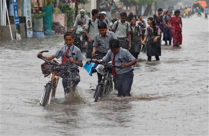 As monções na Índia este ano estão 4% mais intensas do que a média do ano anterior