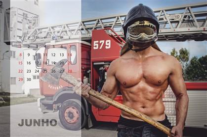Bombeiros fazem calendário por causa nobre