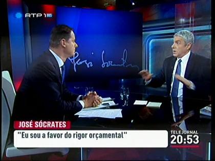 José Sócrates entrevistado por Rodrigues dos Santos