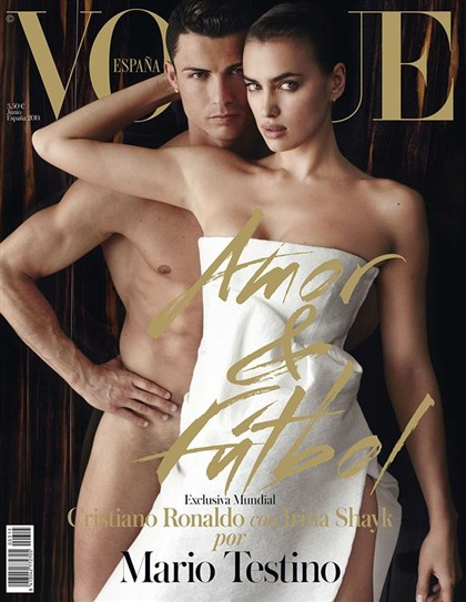 Ronaldo e Irina Shayk escaldantes na 'Vogue Espanha'