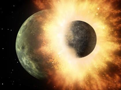 Lua resultou do choque de um planeta com a Terra