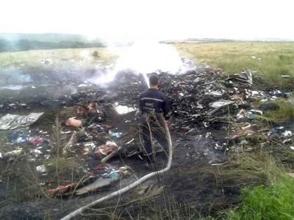 Destroços do avião da Malásia que caiu na Ucrânia, na zona de Donetsk