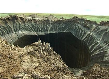 """Cratera do """"fim do mundo"""" resulta do aquecimento global"""
