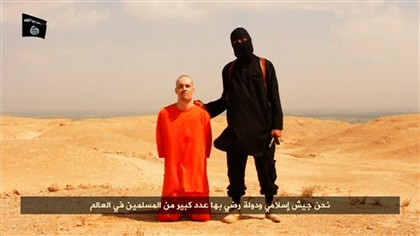 Imagem do v�deo da morte de James Foley