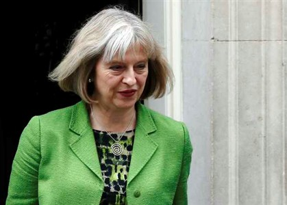 Ministra do Interior brit�nica Theresa May