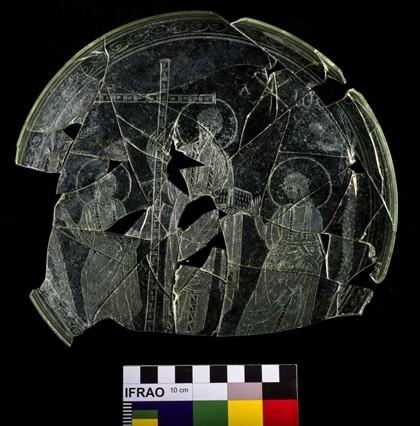 Imagem de Cristo em vidro sobreviveu 16 séculos