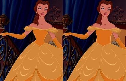 A princesa Ariel, do filme A Pequena Sereia, foi uma das escolhidas por Brantz para mostrar o desfasamento das proporções.