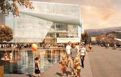 Uma projeção da Biblioteca do Futuro, que vai ser construída em Oslo, na Noruega