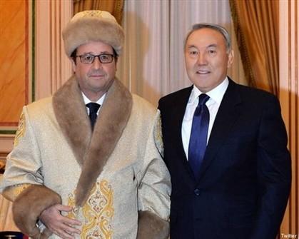 O sobretudo cazaque de Hollande embaraça o Eliseu