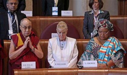 Dalai Lama, Betty Williams e Leymah Gbowee são alguns dos laureados presentes no encontro