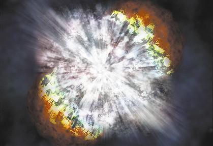 Uma supernova acontece quando as estrelas morrem e explodem, como aconteceu com a SN 2006gy, observada em 2007.
