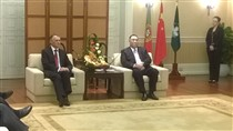 Cavaco Silva reunido com o chefe do Executivo de Macau, Fernando Chui Sai On