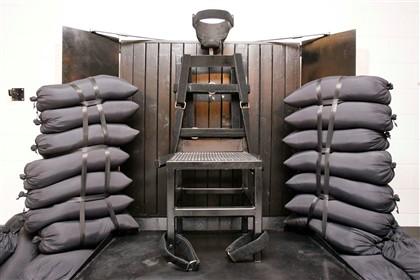 A sala de execução onde morreu Ronnie Lee Gardner, em 2010, no Utah