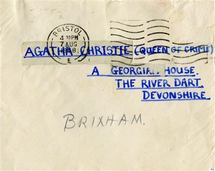 Envelope da carta de um admirador de 14 anos, enviada em 1958