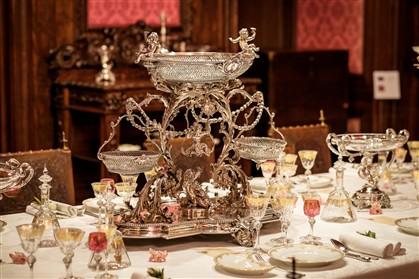 O centro de mesa da rainha estava numa casa em Benfica