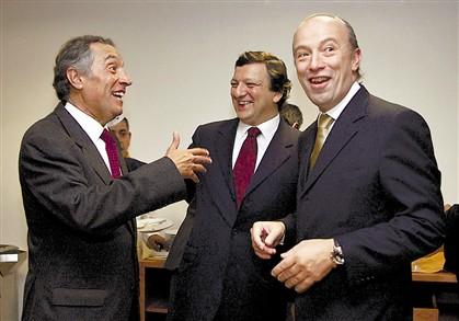 Marcelo e Santana comentaram texto de Cavaco, Durão, ao centro, não