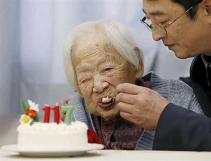 Misao Okawa, a pessoa mais velha do mundo, que faleceu aos 117 anos