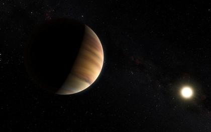 A visão artística do exoplaneta