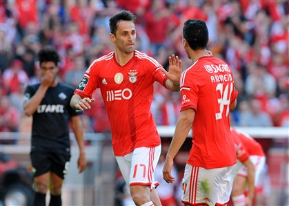 "Jonas, de ""pior avan�ado do Mundo"" a refer�ncia no Benfica"