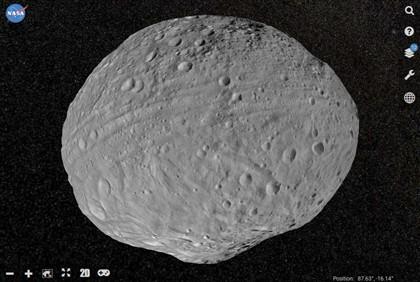 Explore o asteroide Vesta através da internet nesta app interativa da NASA