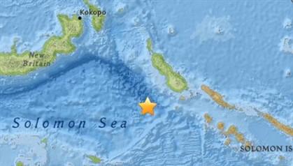 Sismo de magnitude 7,2 ao largo das Ilhas Salomão e da Papua Nova Guiné