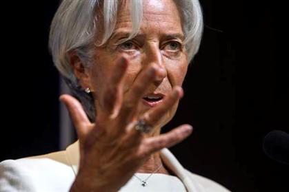 A diretora-geral do FMI acredita na reestruturação da dívida de Atenas