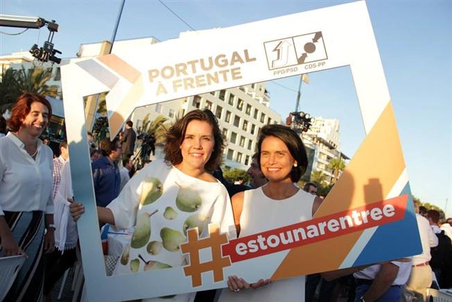 Assunção Cristas na festa do Pontal, em Quarteira, com Patrícia Fonseca, candidata do CDS por Santarém