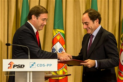 Passos re�ne-se com Costa e Or�amento � prioridade absoluta