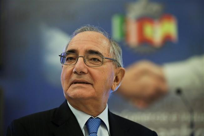 O ministro de Estado e dos Negócios Estrangeiros de Portugal, Rui Machete