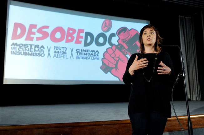 "Catarina Martins discursa na 2.� edi��o do ""Desobedoc - Mostra de cinema insubmisso"""