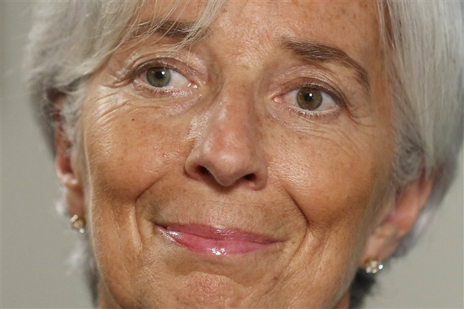 Christine Lagarde, diretora do Fundo Monet�rio Internacional