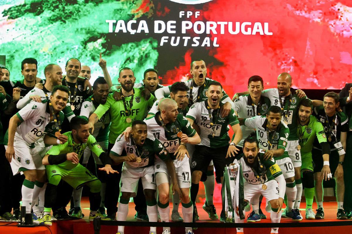 fdb6069a06 Sporting bate Fabril e conquista sexta Taça de Portugal em futsal