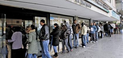 Desemprego jovem em Portugal já vai nos 21%