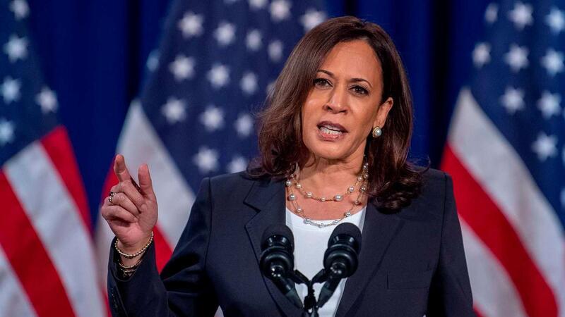 A senadora Kamala Harris é a primeira mulher negra a concorrer a vice-presidente democrata