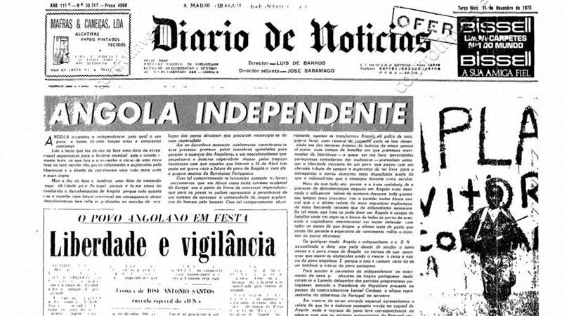 Capa do DN de 11 de novembro de 1975