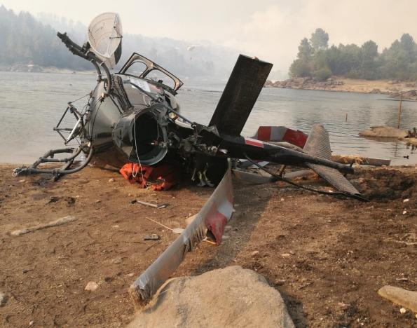 Governo desmentido no acidente com helicóptero no incêndio de Alijó